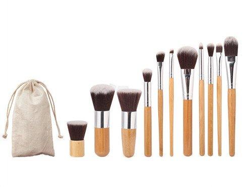 Pro Reiniger Beauty Blender (BrilliantDay Pro 11 Stück Make Up Pinselset mit Schönen Tasche - Professionellen Kosmetik Schmink-pinselset für Foundation Concealer Lidschatten)
