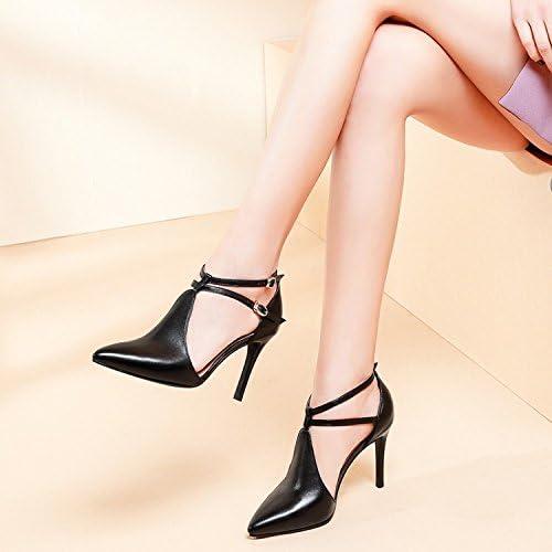 Jqdyl Tacones Zapatos para mujer Tacones altos Acentuados Zapatos, Negro, 38