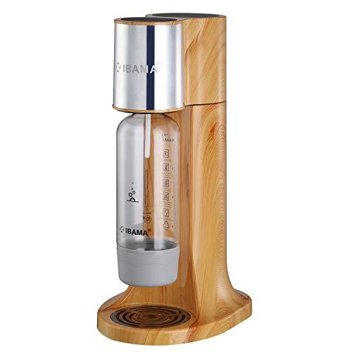 IBAMA Wassersprudler mit 1L PET Flasche (BPA frei), Macht vollautomatisch aus Leitungswasser Sprudelwasser für Zuhause/Büro/Party (Carbonator Nicht Enthalten)