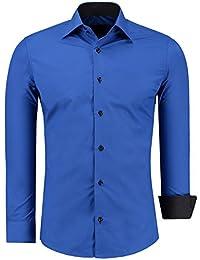 844f7cf324e0 J S FASHION Herren-Hemd – Slim-Fit – Bügelleicht – Für Anzug, Business