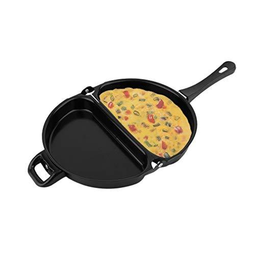 Delaman Eierpfanne faltende Bratpfanne, Antihaft, Kleine Omelett-Eier-Frühstück-Topf, Küche, die Werkzeug Kocht