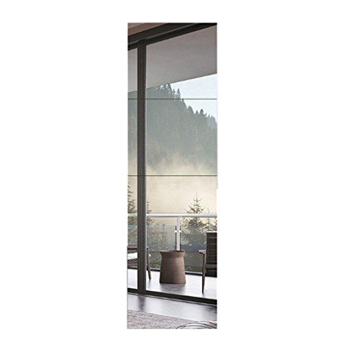 Bloomy Home- Espejo Pegamento de Pared Espejo de Cosido Pegamento Dormitorio Personalizado Montaje sin Marco Espejo Pared Espejo de Cuerpo Entero Espejo de Piso * 4 Espejos de Pared