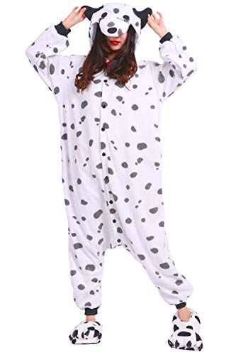 Kostüm Jumpsuit Onesie Tier Erwachsene Unisex Cosplay Schlafanzug Dalmatiner (Für Dalmatiner-kostüm Frauen)