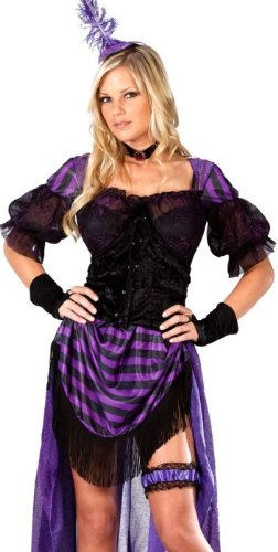 Costume Carnevale Saloon Lady Maverick Can Can – sexy donna Dress 10 to 12