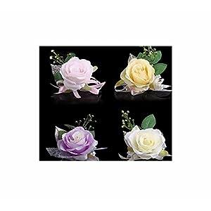 Braut Haarschmuck Kopfschmuck Brustblume Haarblume Blumen Haarspange Damen Accessoires mit Sicherheitsnadeln aus Handarbeit