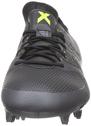 adidas X 15.1 Fg/Ag, Chaussures de Football Homme Noir - Schwarz (Core Black/Solar Yellow/Night Met. F13)