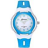 Kinder Analoge Uhren,Jungen Mädchen Armbanduhr Wasserdichte Leicht zu Lesen Zeit Weicher Riemen Armbanduhren Geschenk für Kinder (Blau)