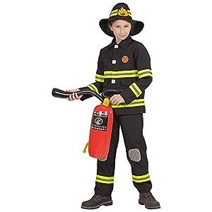WIDMANN 96798infantil Disfraz de bombero, joven, negro