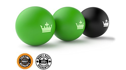 New-Year-New-You-Sale-Muscle-Roller-Ball-Set-of-3-Massage-Balls-for-Deep-Tissue-Trigger-Point-Physio-Therapy-Myofascial-Release-Premium-Quality-Lacrosse-Style-Rubber-Balls-Comes-with-a-Bag-100-Money-B