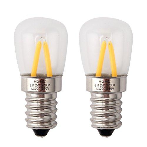 Glühbirne für kühlschrank, E14 LED Birne 2W 220V Warm Weiß 2700K Schraubbirne, Ersatz für 25W Halogenlampen, 2 Stück
