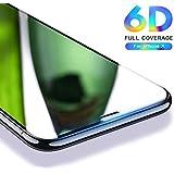 "nzon 6D Anti-Scratch, Ultra-Clear Tempered Glass for Apple iPhone X Full Edge (5.8"") (Black, SA-SLTG6DBK-8421 iPhone X) Apple 10"