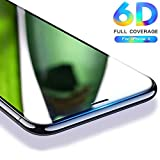 nzonTM 6D iPhone X Tempered Glass, for iPhonex Screen Glass Protector, nzon Apple 10 [6D Tempered Glass] Anti-Scratch, Ultra-Clear Screen Protector Film for iPhone X (6D Black)