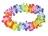 Alsino Hawaiiketten Blumenkette Hula Deluxe 1 m Regenbogen Farben Hawaii-Deko Party Kette, wählen:multicolor 02