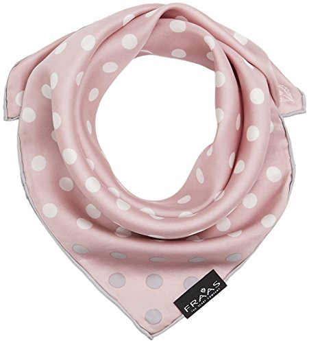FRAAS Damen Nickituch mit Polkadots Tuch, Rosa (Rose 410), One Size - Seiden-tuch, Rose
