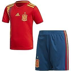 adidas Federación Española de Fútbol Conjunto, Unisex Niños, Rojo (Dorfue), 116-5/6 Años