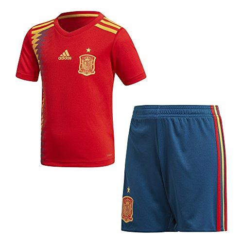 Adidas Federación Española de Fútbol Conjunto, Unisex Niños, Rojo (dorfue), 98-2/3 años