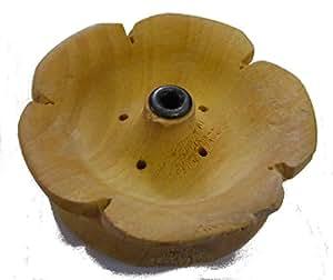 Fiera di legno tibetano fiore di loto Portaincenso