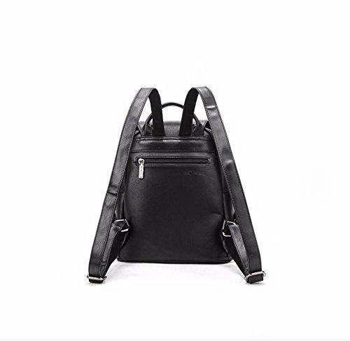 neue doppel - umhängetasche reißverschluss college wind rucksack rucksack,schwarz schwarz