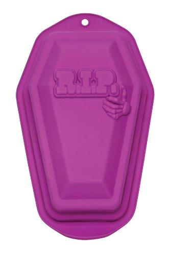 Fox Run 6885 Halloween R.I.P. Silikon-Backform für Coffin (29,5 cm), Violett