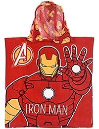 ... Pijamas y batas : Albornoces : IronMan. IronMan Capa de baño con Capucha para niño Avengers Rojo tu (2 – 6 años