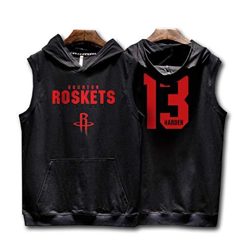 3f5895d56a4b60 Fitness Hip Hop Houston Rockets James Harden Ärmelloses Mit Kapuze T-Shirt  Straße Basketball Uniform