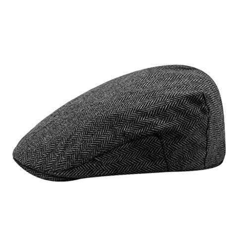 echo4745 Baskenmütze Unisex Vintage Klassische Berets Schirmmütze Newsboy Hut Cap Flache Kappe Golf Sportmütze Einstellbar - Klassisches Golf Cap