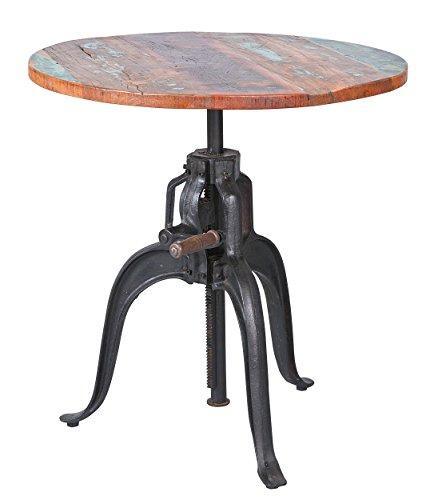 Inter Link 85300460 Esszimmertisch Esstisch Küchentisch 75 cm rund Mango Metall Tisch Design shabby