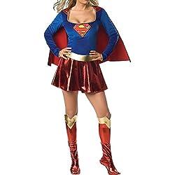 Aimerfeel tamaño del traje del traje de Superwoman 34-36