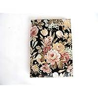 Kristan Art - Agenda 2019 a5 dìa página, Planificador anual, floral Regalo de Navidad para Ella, Vista por Dìa, Tapa Dura, diario, flores con negro