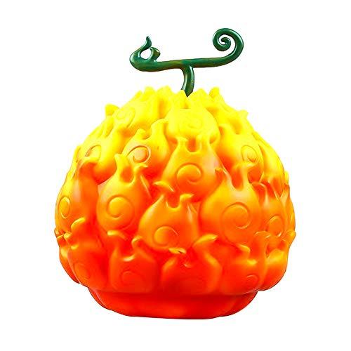 9d85e7a4642b Altcompluser One Piece Devil Fruit Figurine Ace Mera-mera Fruit Luffy en  caoutchouc pour collectionner des fruits – Cadeau pour les fans de Anime ...