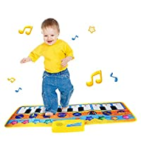 Airoads Musical Piano Mat, Baby Educational Electronic Keyboard, Musical Blanket Dancing Mat Toy For Toddlers and Kids