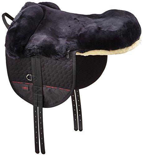 CHRIST Fellsattel Premium Plus hochwertiger, baumloser Lammfellsattel in Handarbeit gefertigt, Bare-Back-pad, Pferde…