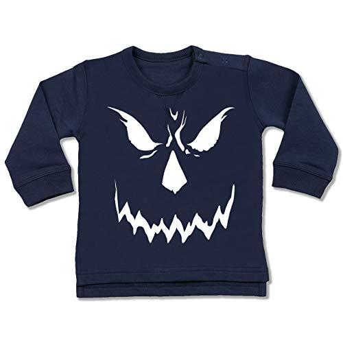 Baby - Scary Smile Halloween Kostüm - 18-24 Monate - Navy Blau - BZ31 - Baby Pullover ()