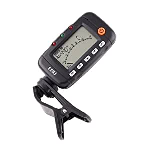 Dodocool3 In 1 Digital Lcd Clip-On Guitar Tuner Metronome Tone Generator