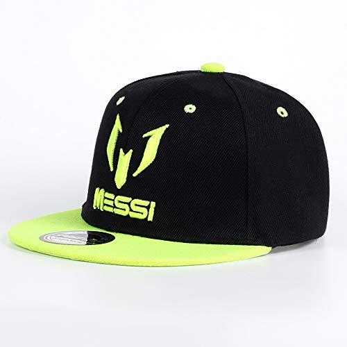 Argentinien Cap (VIIMON 2019 hohe qualität argentinien fußball Messi Baseball caps Jungen mädchen Kinder Kinder anpassen fußball Messi Snapback hip hop Hut (Color : Green))