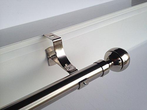 Geko - Pieza de soporte para barra de cortinas (diámetro: 28mm), especial...