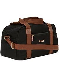 Scout Black Color Canvas Duffel Bag / Canvas Travelling Bag (23 Ltrs) (CDB40003)