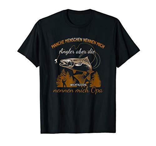 Angler Opa Fischer Angelrute Angeln Geschenk T-Shirt