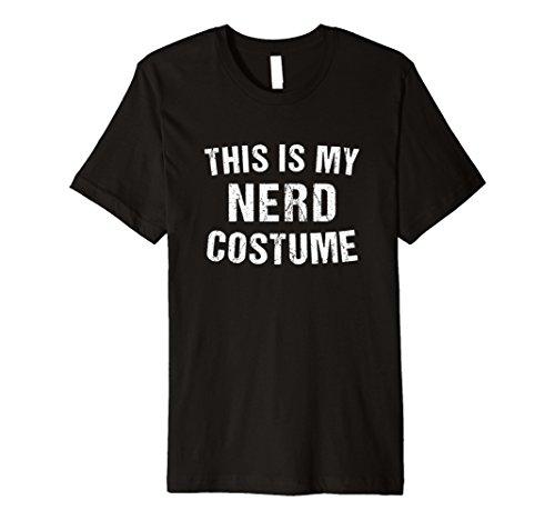 Nerd Kostüm Geek Halloween T Shirt für Männer Frauen Boy ()