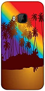 Snoogg Tropical Sunset Designer Protective Back Case Cover For Htc One M9