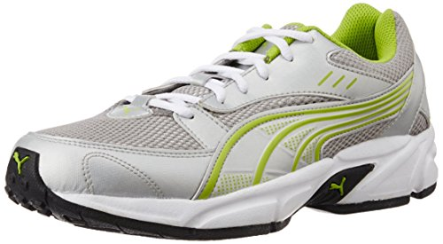 Puma Men's Pluto DP Puma Silver-Lime Punch Running Shoes
