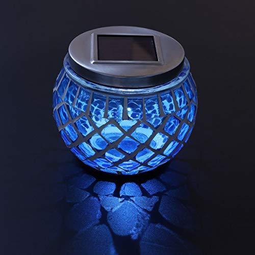 ledmomo Solar Garten Solar-Die Mosaik Kugel Glas LED schaltet Lampen Tisch im Freien - Mosaik-tisch-lampe