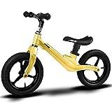 Balance Bike - bicicletta per bambini senza pedali-Auto per bambini - senza pedali - biciclette scorrevoli - L'altezza dei bambini è 70-120 cm, la prima macchina per bambini dai 2 ai 6 anni.,Yellow