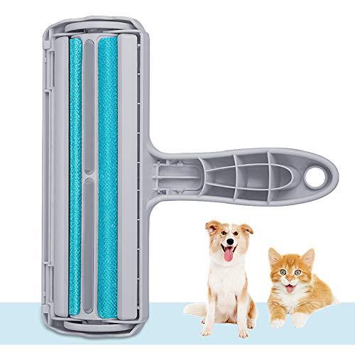 Kinkaivy Tierhaarentferner Fusselrolle, Fusselbürste für Hund und Katze, Tierhaar Roller Wiederverwendbar, Effektiv für Möbel, Bettwäsche, Couch, Teppich und mehr