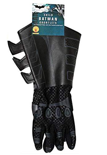 Batman The Dark Knight Rises Handschuhe Kinder Kostüm Zubehör Stoff / Lederimitat (Dark Knight Rises Kinder Kostüm)