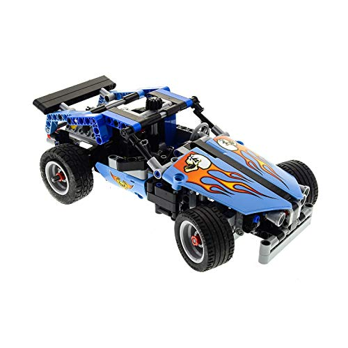 Preisvergleich Produktbild Bausteine gebraucht 1 x Lego Technic Set Modell Race 42022 Rennwagen Hot Rod Car Technik hell blau Auto Tool Shop UW Incomplete unvollständig