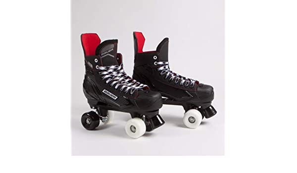 NS Bauer Quad Roller Skates Black /& Red Mixed Sims Street Snakes