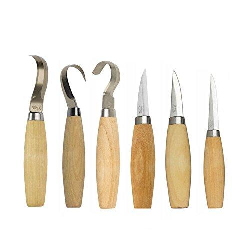 6 Tool-kit (Morakniv Wood Carving Kit 6Tools–Nr. 106/163/120/162/122/164...)