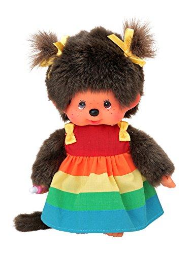 (Sekiguchi 220977 Monchhichi Regenbogen Mädchen mit Kleid, bunt, 20 cm)