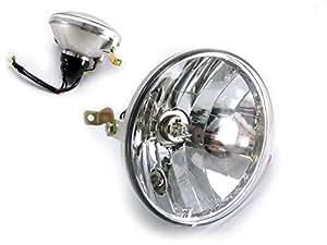 Haute Qualité Vespa Piaggio PX 125 / 150 / 200 Phare Inclus Ampoule Halogène - E-marked